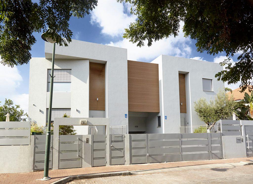 עיצוב בתים מודרניים, דו משפחתי בהרצליה
