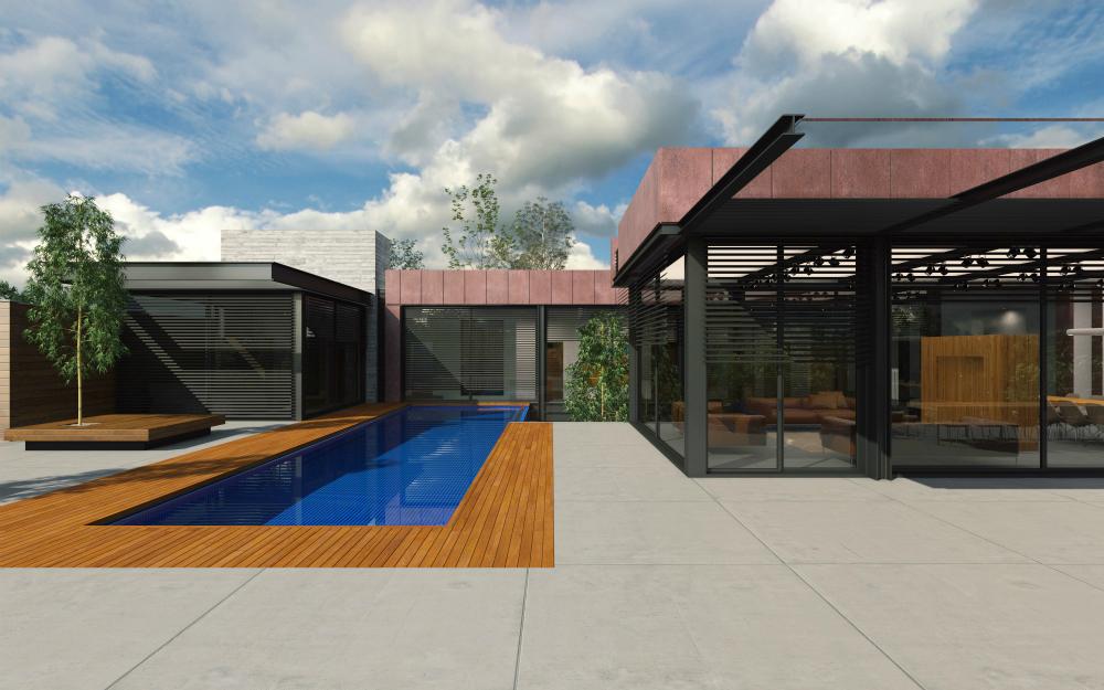עיצוב בתים יוקרתיים, בית במושב
